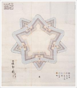 (6)五稜郭図(初度設計図)