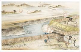 (9)五月十二日於五稜郭防衛戦之図(麦叢録附図)
